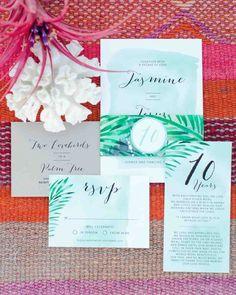 """An Island-Inspired, Backyard Wedding Anniversary Dinner 