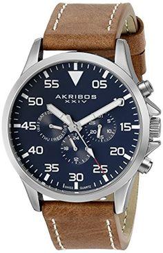 Akribos XXIV Men's AK773SSBU Watch With Brown Leather Band Akribos XXIV http://www.amazon.com/dp/B00RL4W416/ref=cm_sw_r_pi_dp_LqkEvb0DE46TG