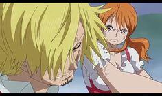Al ver esta escena en el anime me sentido terrible  Nami quiere mucho a Sanji y cuando veo que ella le da una palisa siento que esa amor se a acabado  Sanji X Nami