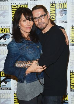 Katey Sagal and Kurt Sutter: Kurt created SOA and plays Otto.  In real life, he is married to Katey Sagal.