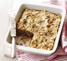 Microwave coffee & walnut cake