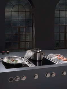 Technology and aesthetics - Bora at Living Kitchen 2015 - BORA induction glass ceramic wok cooktop: enjoy Far Eastern delicacies #black @immcologne