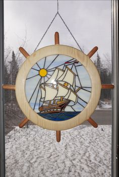 A project I dreamed up becomes realized. A marriage of wood turning and stained glass.