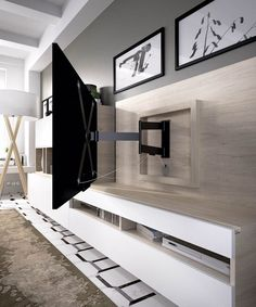 TV Wall Mount Ideas To Create Perfect View Of Your Decor – Home decoration ideas and garde ideas Living Room Tv Unit, Home Living Room, Interior Design Living Room, Living Room Designs, Living Room Decor, Tv Wall Ideas Living Room, Tv Wall Design, House Design, Tv Wanddekor