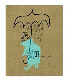 Dan Bob Thompson    50's modern illustration in the present 'Umbrella Man'