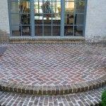 love the herringbone brick