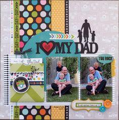 Dad Scrapbook Layout | 12X12 Layout | Scrapbooking Ideas | Creative Scrapbooker Magazine #scrapbooking #12X12layout #dad