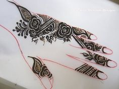 YouTube by Nidhi's Mehndi Art  #quick #gulf style #floral #flowery #henna #mehndi #design #tutorial