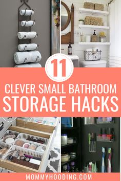 11 Clever Small Bathroom Storage Ideas - Mommyhooding