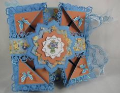 Poppy Napkin Fold card by Annette Bowes - Cards and Paper Crafts at Splitcoaststampers