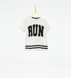 "Image 1 of ""RUN"" sports T-shirt from Zara"