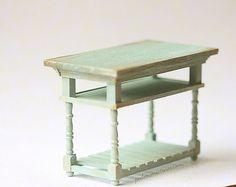 Dollhouse Miniature 1/12th Scale Kitchen Island Table by miniaturepatisserie
