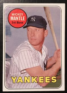 f0f65693467 Today s Find  1969 Topps  500 Mickey Mantle White Letter Variation