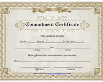 Free Printable Commitment Certificate Template Wedding
