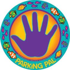 Stick this magnet on the car. Toddlers have to keep their hand there until you get them.
