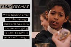 Dean Thomas, Hogwarts, Comebacks, Beats, Harry Potter, Messages, Group, Sayings, Libros
