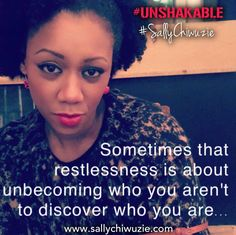 Sometimes your heart will say 'not here', 'not this', 'not you'...listen to the whispers of your soul. That's God's voice #UNSHAKABLE