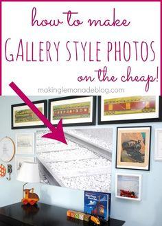 How to Make Large Gallery Wall Photos {on the cheap!} http://www.makinglemonadeblog.com #gallerywall #diygallerywall