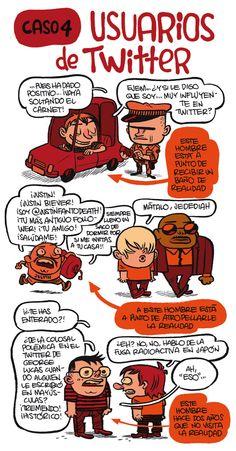 #Infografia #Humor por Monteys Sobre usuarios de #Twitter