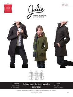 Jalie Stretch City Coat #2680 - Distinctive Sewing Supplies