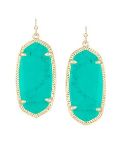Elle Earrings in Teal - Kendra Scott. I want these in almost every color haha but actually... MINT, black, TEAL, ROSE quartz, tangerine, chalcedony, cobalt, and maroon. I wasn't kidding.