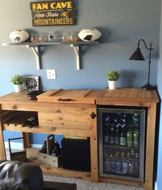 Idea For The Kitchen Cart Built In Wine Cooler Outdoor Buffet Tables Rustic
