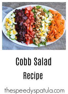 A light and refreshing summer Cobb Salad Recipe. Salad Recipes For Dinner, Easy Salad Recipes, Dinner Salads, Healthy Recipes, Slaw Recipes, Simple Recipes, Amazing Recipes, Grilling Recipes, Summertime Salads