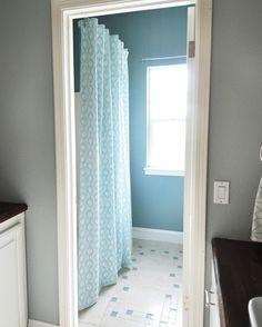 DIY Lined Shower Curtain - Centsational Girl
