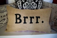 For the front Porch Bench!!! Burlap Christmas Pillow Holiday Pillow by JoaniesFavoriteThing (etsy)