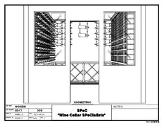 Wine Cellars - Check out this new uniquely designed custom wine cellar installed Memphis Tennessee Wine Cellar Design, Memphis Tennessee, Wine Cellars, Illinois, Basement, Chicago, Floor Plans, 3d, Drawing