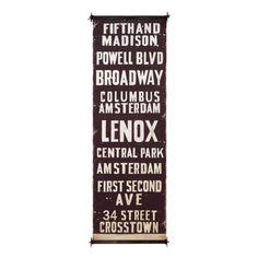 Home Decorators Collection 59 in. W Fifth and Madison City Wood and Fabric Wall Banner New York Subway, Nyc Subway, Wall Banner, Urban Loft, Wall Spaces, Office Spaces, Dot And Bo, Wall Signs, Modern Decor