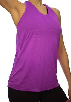 8ed966393f932 Women Tank Top Workout Sport Top Shirt Purple Dri-fit Mesh Yoga Gym  Training Running Dance Beach Cover Up Spinning Cycling Bike Sma Med Larg by  Braziwear on ...
