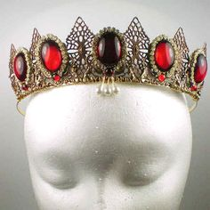 Anne Boleyn Gemstone Tiara You could make one of these in your colours...it would look great with the bouquet