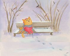 Мой друг снегирь Василий (My friend bullfinch Basil)