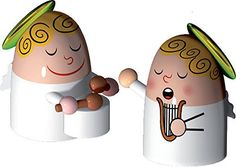 Alessi Angels Band Figurines In Porcelain Set Of 2 -- More home décor info could be found at the image url.