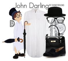 """John Darling"" by leslieakay ❤ liked on Polyvore featuring Alor, Nixon, Monsoon, Sam Edelman, Oakley, disney, disneybound and disneycharacter"