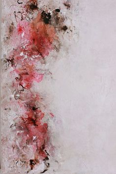 """Rouge"" {Abstract Painting, Large Expressionism, Mixed Media, 20 x 30} 