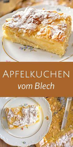 Apfelkuchen vom Blech – Madame Cuisine – Cakes and cake recipes Easy Cake Recipes, Sweet Recipes, Baking Recipes, Cookie Recipes, Dessert Recipes, Apple Desserts, Fall Desserts, Apple Recipes, Fall Recipes