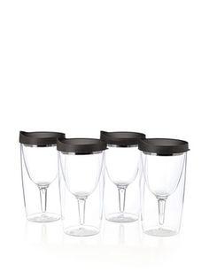 37% OFF AdNArt Set of 4 Vino 2 Go Cups (Black)