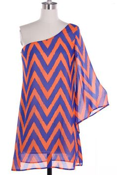 This website has tons of great college gameday dresses! + FREE SHIPPING!   UF Gators College Gameday Dress! #chevron #gators #UF