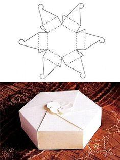 Hexagon Gift Box template