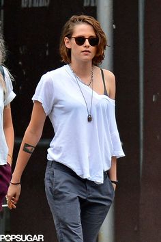 Kristen Stewart Looks Effortlessly Cool During a Casual Stroll in NYC