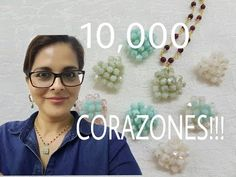 """In this instructional video see how I use Swarovski crystal beads to make a """"puffed"""" heart. Beaded Bracelets Tutorial, Necklace Tutorial, Brick Stitch Tutorial, Peyote Beading, Swarovski Crystal Beads, Simple Necklace, Beaded Flowers, Stone Beads, Beaded Jewelry"""