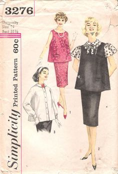 Maternity Vintage Simplicity Sewing Pattern 3276 by GrandmaMadeWithLove, $8.00