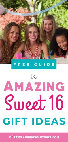 A special girl deserves a superb gift! Pulling your hair out, trying to figure out what to give the birthday girl? Lucky for you, there are so many options out there, and we love to help! You need a special gift for your awesome teen, and we've got the skinny on great Sweet 16 gift ideas for your celebration! #giftideas #sweet16partyideas #sweetsixteenpartyideas #partyideas #partyplanning