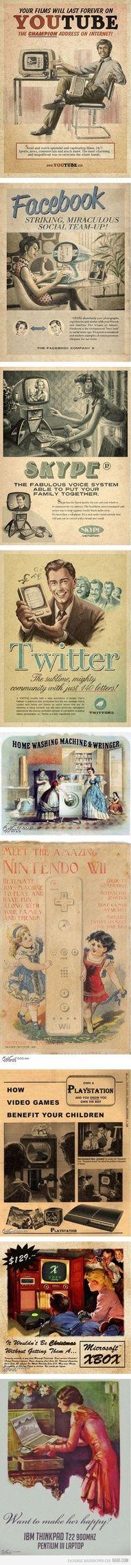 Vintage Makeover Advertisement - New Media Vs. Old Media Retro Ads, Vintage Advertisements, Vintage Ads, Vintage Posters, Retro Advertising, School Advertising, Vintage Style, Product Advertising, 1940s Style