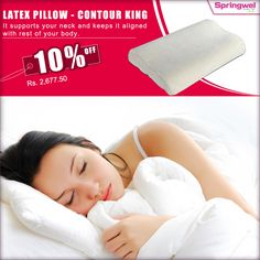 Do you need a proper shoulder alignment while sleeping? Or have you been advised to #Sleep without pillow due to #NeckPain ? Well, #LatexPillowContour King could just be the perfect solution for you. Check it out.