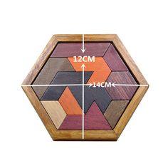 Kids Puzzles Wooden Toys Tangram/Jigsaw Board Wood Geometric Shape P Children Educational Toys