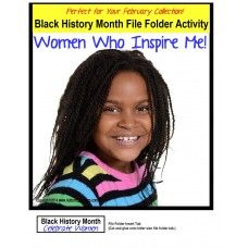 File Folder Games BLACK HISTORY MONTH celebrates eight influential women!  Available at http://www.AutismEducators.com.