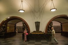 τάση μετρό Ploschad Revolyutsii Moscow Metro, Most Beautiful, World, The World, Earth